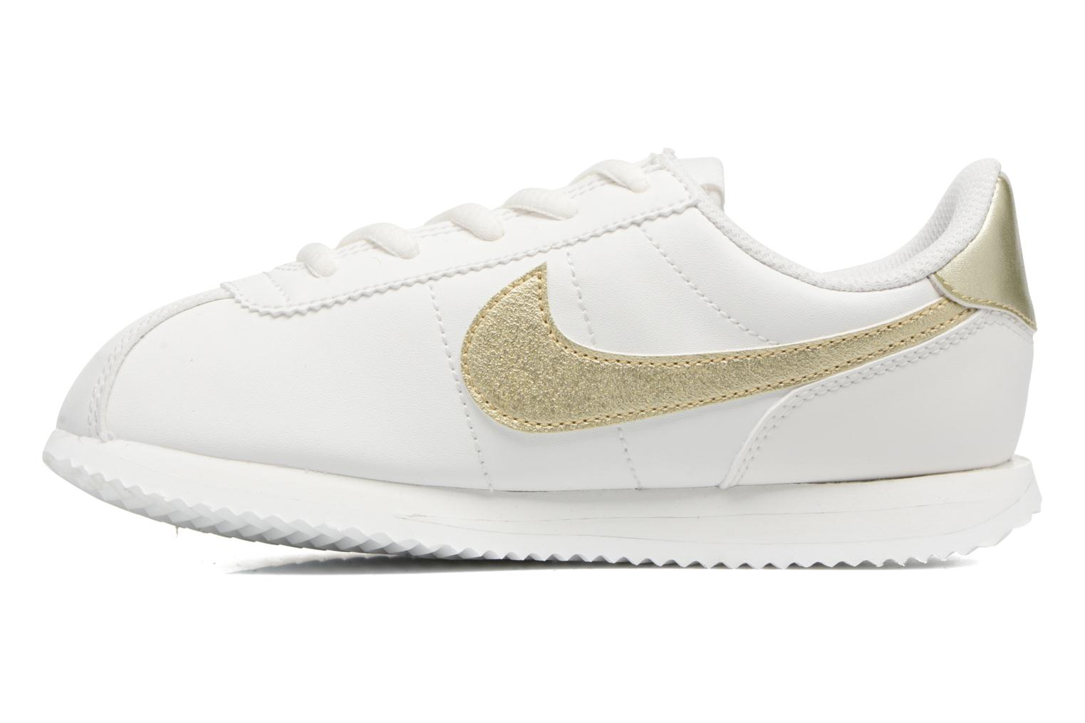 Baskets Nike Cortez Basic Sl (Ps) Blanc vue face